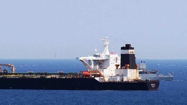 Grace 1, o  petroleiro iraniano interceptado ao largo de Gibraltar pela Alfândega local e a marinha de guerra britânica. 04 de Julho de 2019