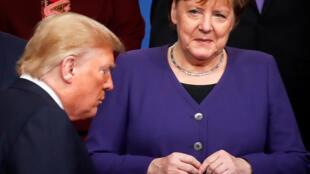 US President Donald Trump and German Chancellor Angela Merkel