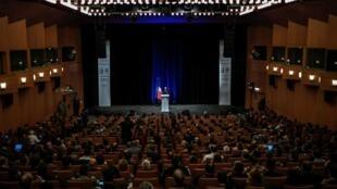 Le Premier ministre Édouard Philippe lors de la cérémonie d'ouverture de l'Institut des hautes études de défense nationale (IHEDN) le 18 octobre 2019 à l'Ecole Militaire de Paris.