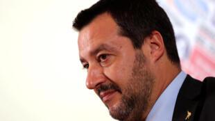 意大利副總理Matteo Salvini.