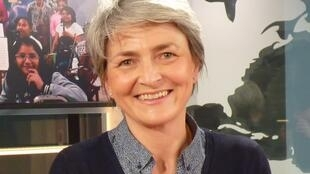 Isabelle de Boves en lso estudios de RFI