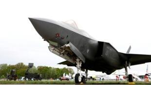 Một chiến đấu cơ Lockheed Martin F-35 tại triển lãm hàng không ở Berlin, Đức, ngày 25/04/2018.