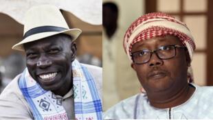 Les deux candidats finalistes du premier tour de la présidentielle bissau-guinéenne, Domingos Simoes Pereira à gauche et Umaro Sissoco Embalo à droite.