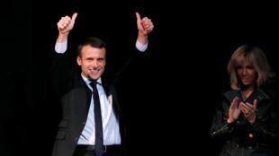 Pesquisa indica vitória de Macron sobre Le Pen no segundo turno da eleição presidencial francesa.