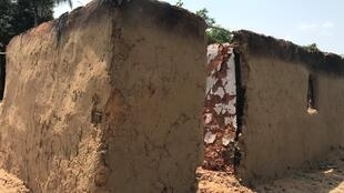 A house that was burnt during the violence in Yumbi last December