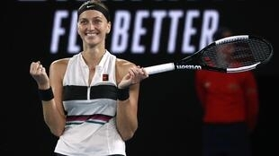 Petra Kvitova's straight sets victory over Danielle Collins propelled her into her first Grand Slam final since Wimbledon in 2014.