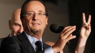 François Hollande, candidato do PS às presidenciais em 2012.