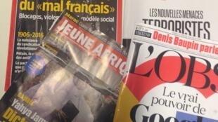 Capas de magazines news franceses de 04 de junho de 2016