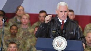彭斯訪問駐阿富汗美軍活動資料圖片
