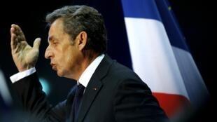 Former French President Nicolas Sarkozy in Marseille, 28 October, 2014