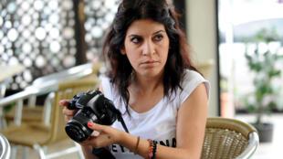 La blogueuse Lina Ben Mhenni, en 2013.