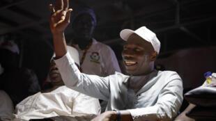Domingos Simões Pereira,  candidato do PAIGC  à eleição presidencial em Pitche, leste de Bissau, no passado dia 06 de Março.
