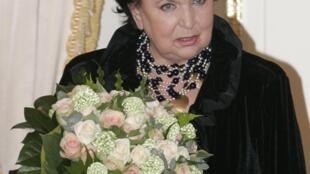 La soprano Galina Vishnévskaya, en un acto en 2008.