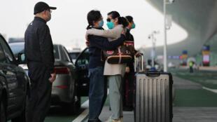 中國湖北武漢天河國際機場旅客資料圖片