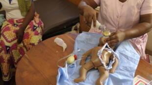 La réanimation du nouveau né à l'hôpital de Mango au Togo