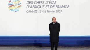 Jacques Chirac au sommet Afrique-France de Cannes en février 2007.