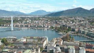 Vue générale de la ville de Genève en Suisse.