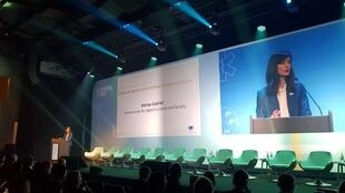Mariya Gabriel, European Commissioner in charge of Digital Economy and Society, speaking at the Digital Day 2018 conference in Brussels, Tuesday 10 April, 2018