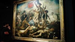 """""""La libertad guiando al pueblo"""", de Eugène Delacroix."""