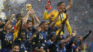 Festejos dos jogadores franceses.