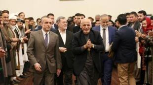 Le président Ashraf Ghani lors des éléctions, à Kaboul, en Afghanistan, le 22 décembre 2019.