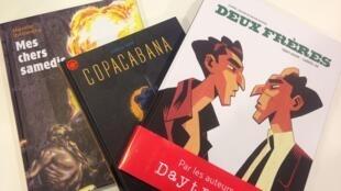 Alguns dos álbuns de HQ do Brasil em destaque no Salão do Livro de Paris.