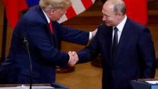 2018年6月16日,特朗普與普京在赫爾辛基首次會晤。
