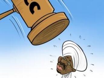 Sudan: Kibonzo hiki kinaonesha hatua ya serikali nchini Sudan kuamua kumwasilisha katika Mahakama ya Kimataifa ya ICC rais wa zamani Omar al-Bashir  (14/02/2020)