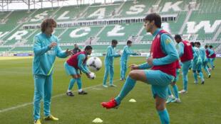 Seleção Brasileira treinou no Estádio Miejski.