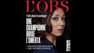 O escândalo revelado pela ex-campeã de patinação artística Sarah Abtibol foi capa da revista L'Obs.