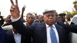 Etienne Tshisekedi, en juin 2012, pour un meeting de son parti l'UDPS.