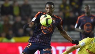Le Camerounais Benjamin Moukandjo, sous le maillot de Lorient.