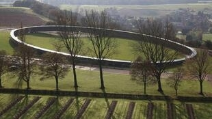 """The """"Ring of Memory"""" located in Notre Dame de Lorette, northern France"""