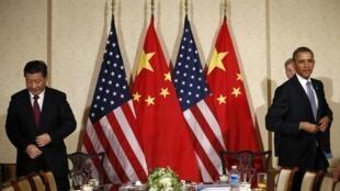 參加在荷蘭海牙舉行的7大工業國核安全會議期間中美進行會晤