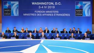Conmemoración de los 70 años de la OTAN en Washington, 4 de abril de 2019.