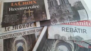 Primeiras páginas dos jornais franceses 17 de abril de 2019