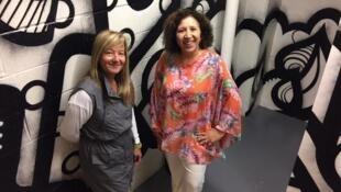 Isabella Lawen (à esq.) e Marisa Besselievre dedicam-se de corpo e alma aos grupos que tentam preservar a cultura brasileira e ajudar os expatriados.
