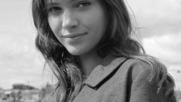 A atriz Anna Karina, em setembro de 1961, ano de seu casamento em Paris com Jean-Luc Godard.