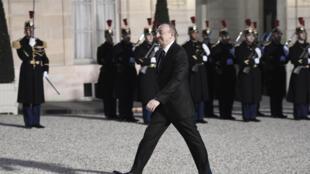 Президент Азербайджана Ильхам Алиев во время своего визита в Париж, 14 марта 2017 года.
