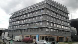 France's first energy-positive office building, in Saint Denis, designed by architect Helene Jourda