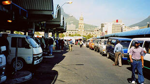 Cape Town city taxi rank on the roof of the railway station