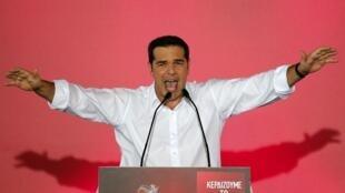 Alexis Tsipras a tenté de galvaniser la foule, le 18 septembre 2015 à Athènes.