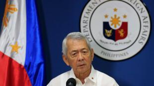 Ngoại trưởng Philippines Perfecto Yasay ra thông cáo về phán quyết của Tòa Trọng Tài, trong cuộc họp báo tại Manila, Manila, ngày 12/07/2016