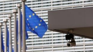 Entrada principal del sitio de la Comisión Europea en Bruselas, julio , 2013.