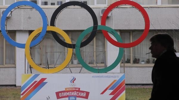 Au siège du Comité olympique russe.