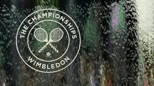 The Wimbledon in a water fountain