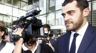 French lawyer Aurélien Hamelle, who represents William and Kate, leaving court on Monday 17 Sept.