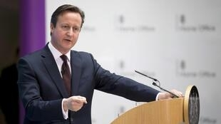 O primeiro-ministro da Grã-Bretanha, David Cameron.