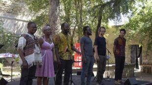 Tom Adjibi, Alvie Bitemo, Serge Demoulin, Lamine Diarra, Daddy Kamono Moanda, Yatsiona, LE BAL DE NDINGA de Tchicaya U Tam'si, CA VA CA VA LE MONDE 2018, Cycle de lectures, RFI Festival d'Avignon 2018.