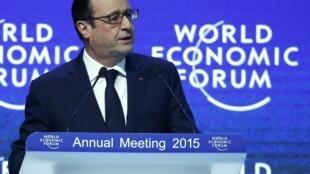 Выступление Франсуа Олланда на форуме в Давосе 23/01/2015